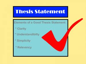 Thesis statements for comparing and contrasting essays